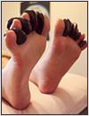 脚のホットストーン画像
